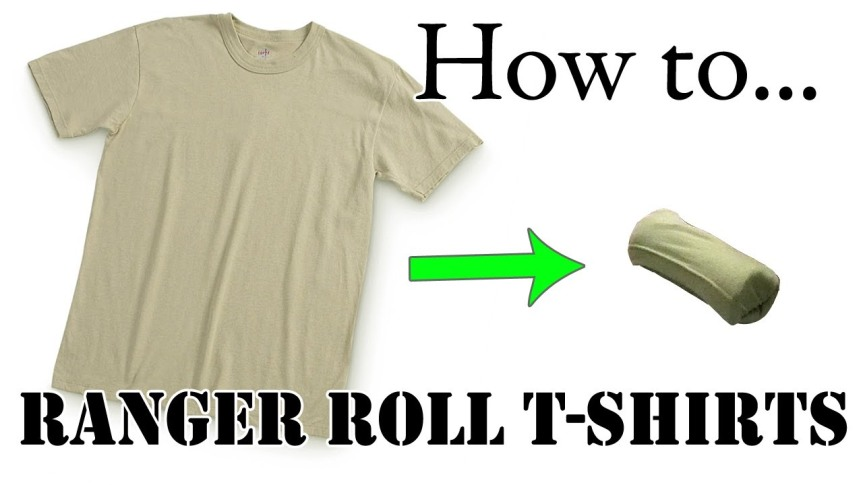 How to Army Fold a T-Shirt